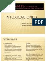 INTOXICACIONES 2011