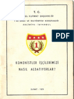 Komunistler İşcilerimizi Nasıl  Aldatıyorlar Genel Kurmaybaskanligi  1973