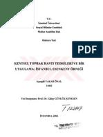 Kentsel Toprak Ranti Teorileri Ve Bir Uygulama Istanbul Esenkent Ornegi Urban Land Rent Theories and an Application the Esenkent Case in Istanbul