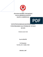 Yeni Duzenlemeler Esliginde Yerel Yonetimlerde Mali Ozerklik Ve Mali Tevzin Financial Autonomy and Fiscal Federalism in Local Administration in Accordance With the New Arrangements
