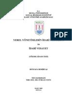 Yerel Yonetimlerin Idari Ozerkligi Ve Idari Vesayet Administrative Autonomy of Local Governments and Administrative Tutelage