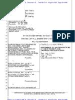 Warner Bros. et al. v. WTV Systems [Zediva] - Opposition to Motion Picture Studios' Motion for Preliminary Injunction