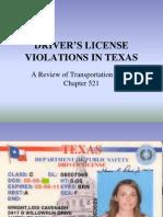 Fagen - Texas Drivers License Offenses