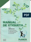 Planeta Sustentavel Manual de Etiqueta