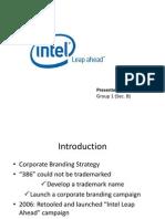 Intel Building A Technology Brand