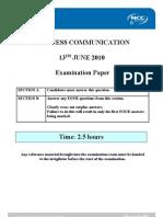 BC Exam Paper June 2010 - Final