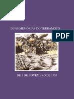 DUAS MEMÓRIAS DO TERRAMOTO DE 1 DE NOVEMBRO DE 1755