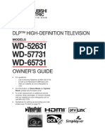 Wd-52631 Mitsubish Tv Manual