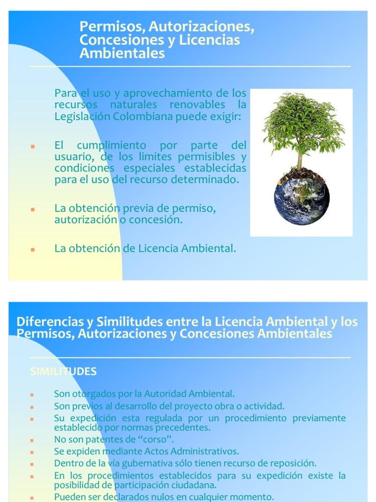 Licencias ambientales for Diferencia entre licencia de apertura y licencia de actividad