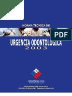 Norma General Tecnica Urgencia Odontologica