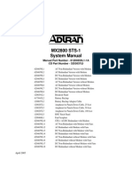 Adtran MX2800 STS 1 System Manual
