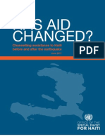 Has Aid Changed ? by Office of the Special Envoy of Haiti -  June 2011