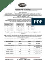 Aluminum 2024-T4-2024-T351