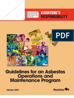 Asbestos Oper and Maint Guide