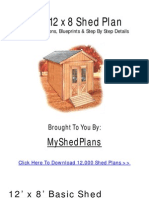 Build Your Shed With Illustrated Blueprints and Step-by-Step Plans!
