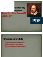 LA Holiday Task 1 Shakespeare Power Point
