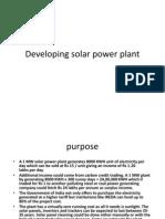 Solar Power Plant Ppt