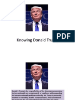 Knowing Donald Trump