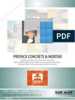 Prepack Concrete & Mortar