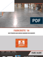 Faircrete 16 - Dust Proofer and Concrete Surface Hardner