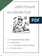 Folio Additional Mathematics