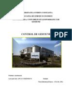Profesia de Controlor de Gestiune - Referat 2011