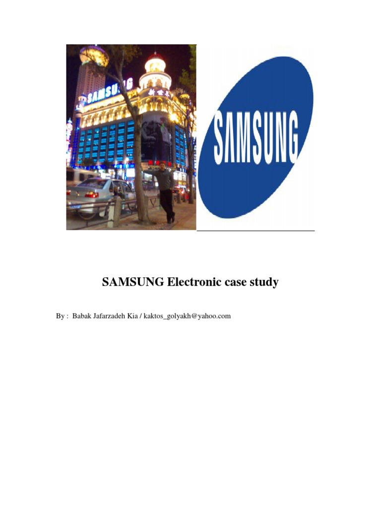 Samsung electronics case study analysis harvard