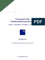 iQ Ingenieros Modelo Presupuesto Web