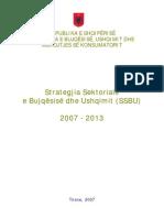 Strategjia Sektoriale e Bujqesise Dhe Ushqimit SSBU