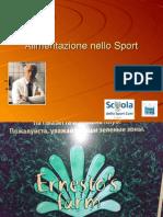 Alimentazione Nello Sport - Dott. a. Sterpini DCO FMSI - Scuola Dello Sport CONI Puglia