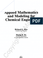 Applied Maths and Modeling for Chemical Engineers
