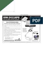 OIW-2411APG - Manual de Instalacao