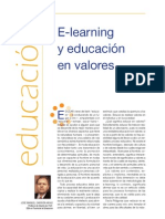 E-learning y educación en valores