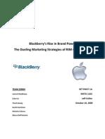 Marketing Case Study RIM vs Apple