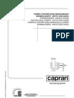 NC Normalizovane Jednostupnove Horizontalne Odstredive Cerpadla Technicky Manual En