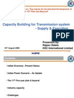 Capacity Building for Transmission System