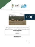 Situation socioéconomique des ménages dans les Districts d'Ambatondrazaka et impact de la crise sociopolitique au niveau des ménages (PADR, ROR, UNDP, UNICEF/2011)