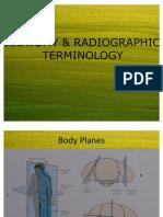 Anatomy & Radio Graphic Terminology