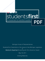Leaked StudentsFirst Ohio Briefing Document