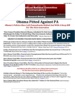 Obama Pitted Against PA