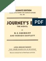 r.c.sherriff and Vernon Bartlettf - Journey's End (the Novel)