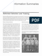 Astronaut Selection and Training