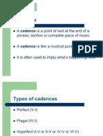 Grade 4 Lessons 1-5 Cadences