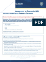 DCoE TBI Factsheet Case Management for Concussion