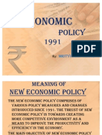 New Economic Policy of India 1991