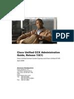 UCCX 7.x Admin Guide