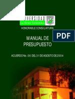 Manual Presupuesto