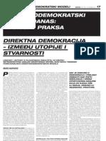 Direktnodemokratski modeli - Zarez, Travanj 2011 Prvi dio