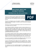 Ability and Profile Testing Information Package 2011