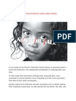The Sexual Objectification of Girls and Human Trafficking